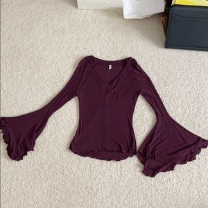 Free People Knit Belle-Sleeve